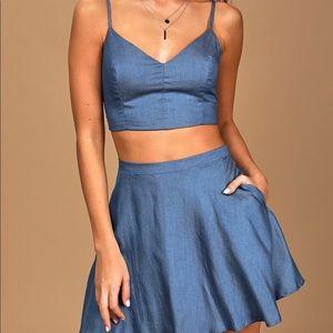 Lulu's Chambray 2 piece dress